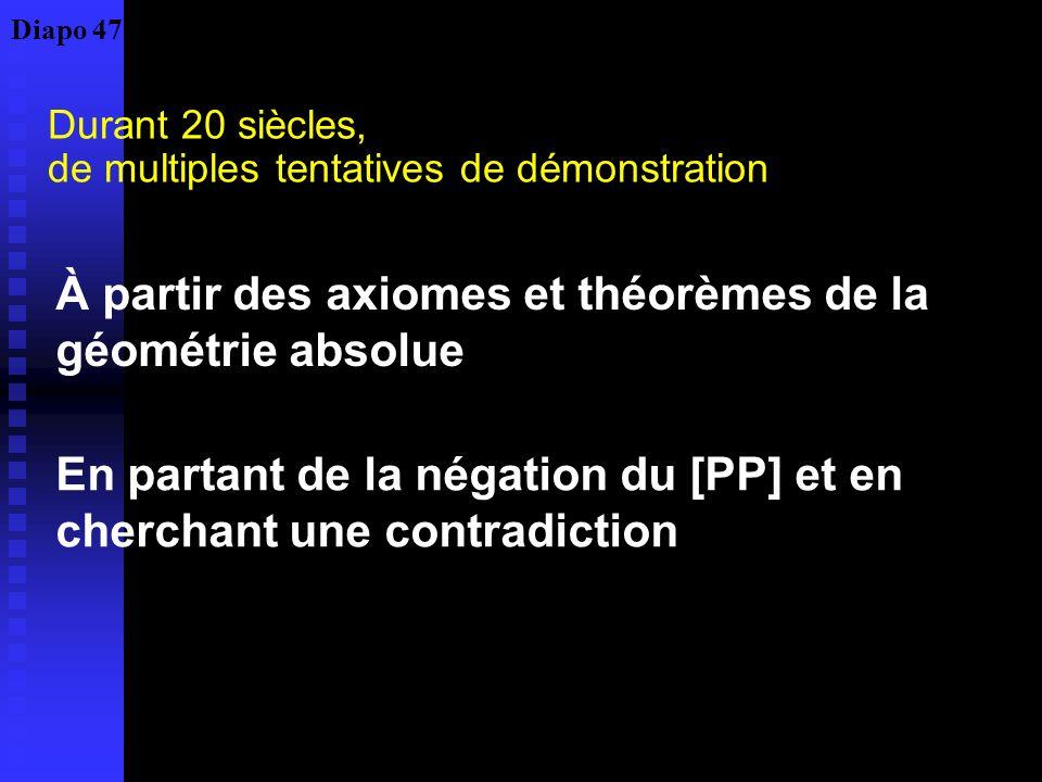 Le rôle central de la proposition 29 : impossible de la démontrer sans recours au [PP] Une ligne droite tombant sur des droites parallèles fait des an