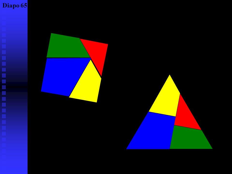 Un exemple de quadrature, en forme de puzzle le puzzle de Dudeney (1857 – 1931) Diapo 64
