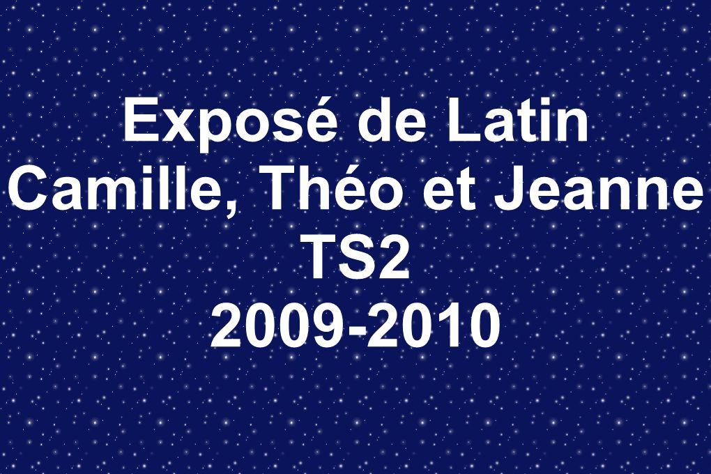 Exposé de Latin Camille, Théo et Jeanne TS2 2009-2010
