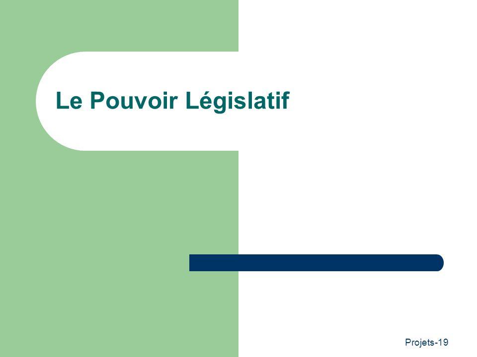 Projets-19 Le Pouvoir Législatif