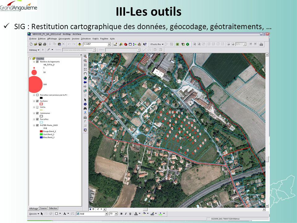 III-Les outils SIG : Restitution cartographique des données, géocodage, géotraitements, …