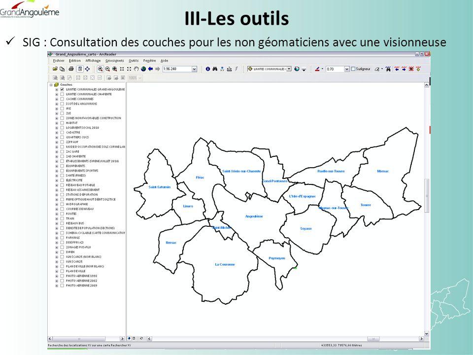 III-Les outils SIG : Consultation des couches pour les non géomaticiens avec une visionneuse