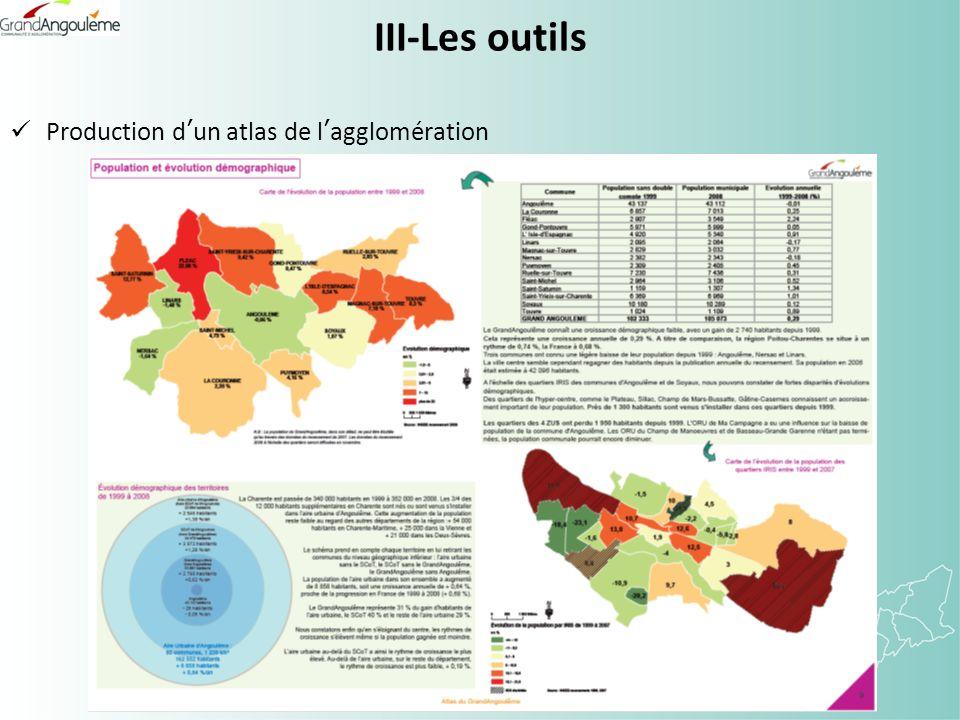 III-Les outils Production dun atlas de lagglomération
