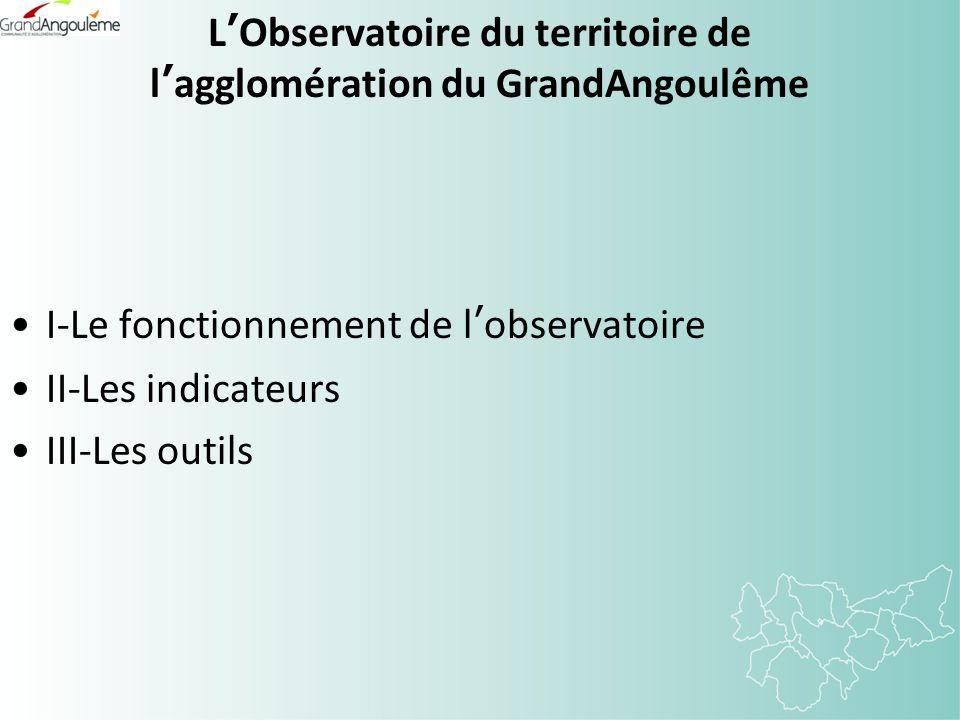 LObservatoire du territoire de lagglomération du GrandAngoulême I-Le fonctionnement de lobservatoire II-Les indicateurs III-Les outils