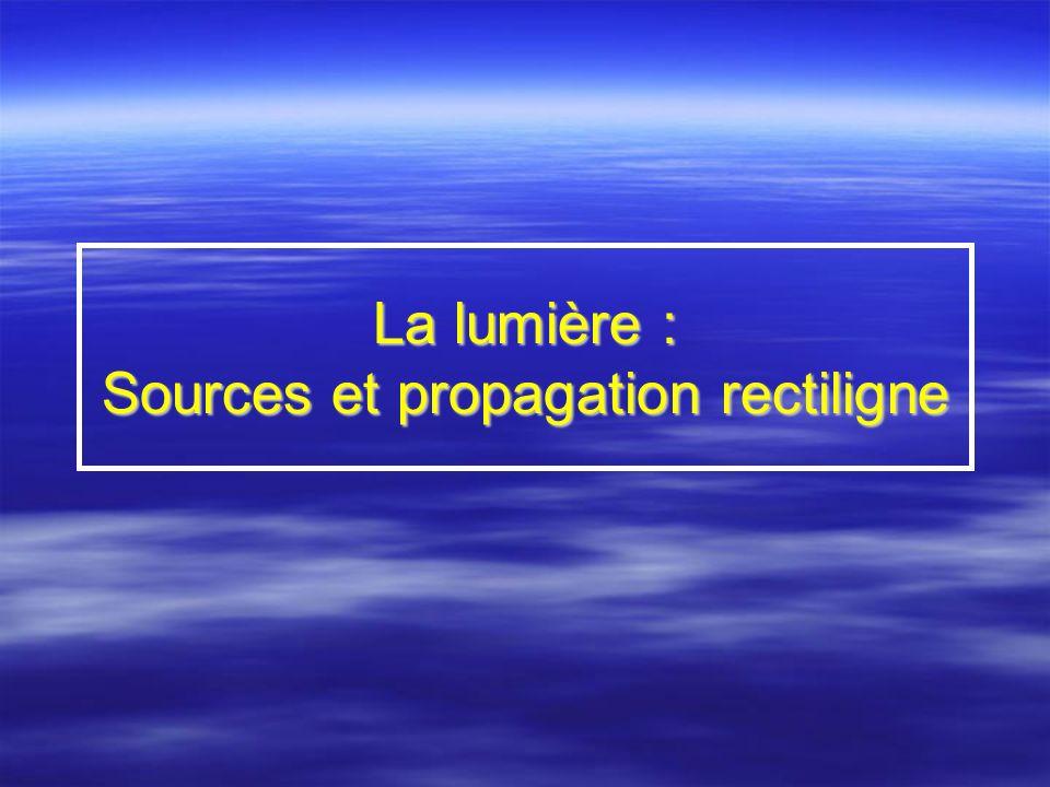 Chapitre 1 : Sources de lumière et importance de la diffusion Introduction Introduction Citer quelques sources de lumière.