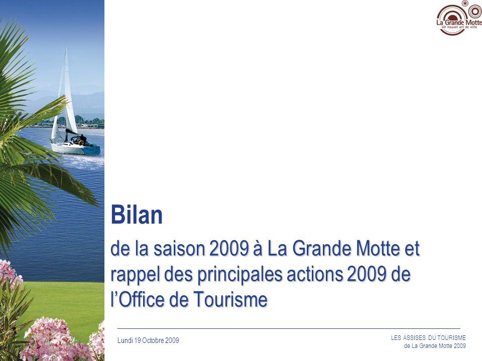 Lundi 19 Octobre 2009 _____________________________________________________________________________ LES ASSISES DU TOURISME de La Grande Motte 2009 de la saison 2009 à La Grande Motte et rappel des principales actions 2009 de lOffice de Tourisme Bilan