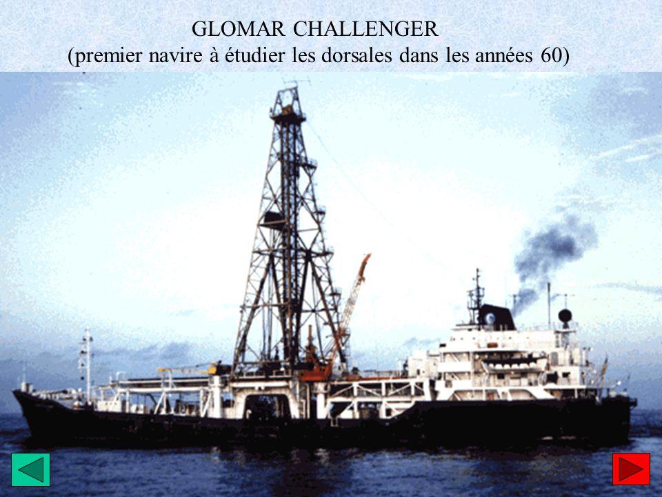GLOMAR CHALLENGER (premier navire à étudier les dorsales dans les années 60)
