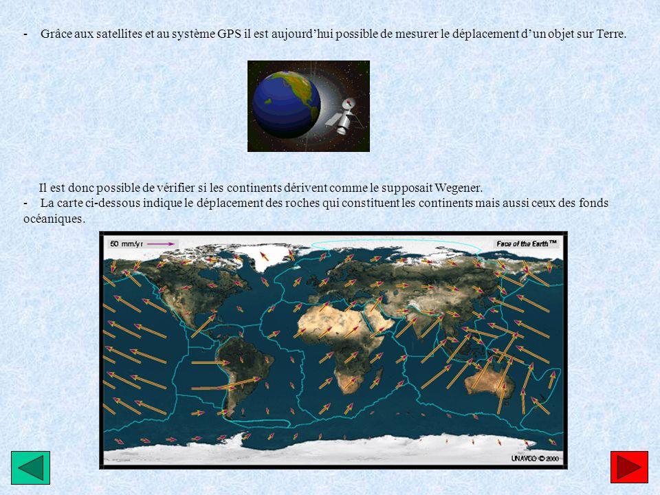 - Grâce aux satellites et au système GPS il est aujourdhui possible de mesurer le déplacement dun objet sur Terre. Il est donc possible de vérifier si