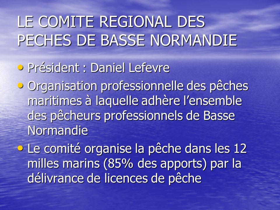 LE COMITE REGIONAL DES PECHES DE BASSE NORMANDIE Président : Daniel Lefevre Président : Daniel Lefevre Organisation professionnelle des pêches maritim