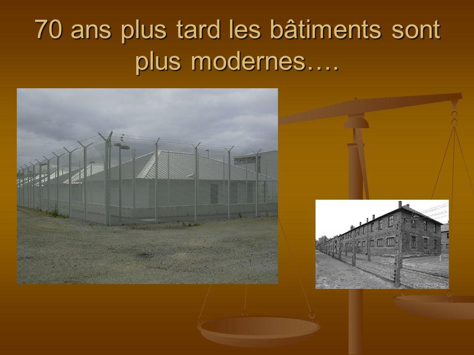 70 ans plus tard les bâtiments sont plus modernes….