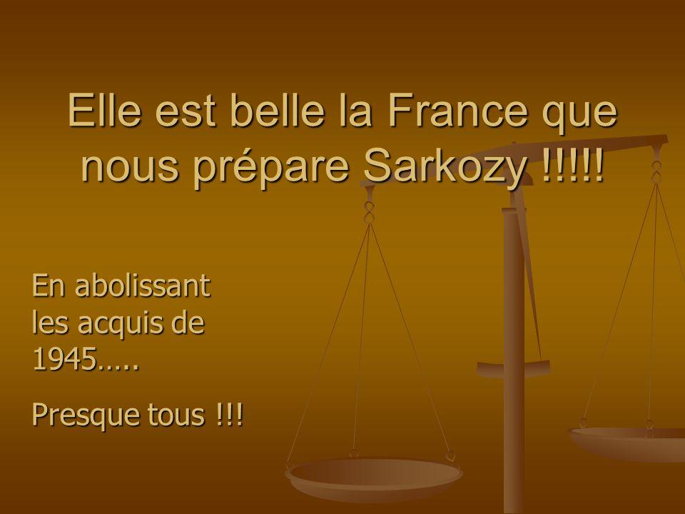 Elle est belle la France que nous prépare Sarkozy !!!!.