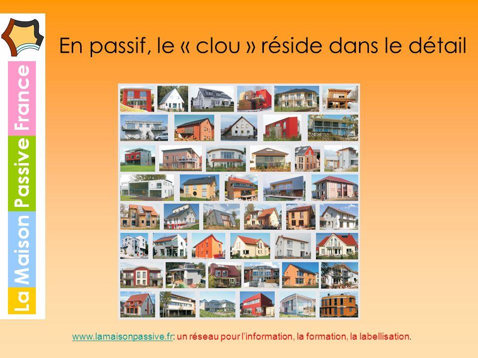 En passif, le « clou » réside dans le détail www.lamaisonpassive.frwww.lamaisonpassive.fr: un réseau pour linformation, la formation, la labellisation