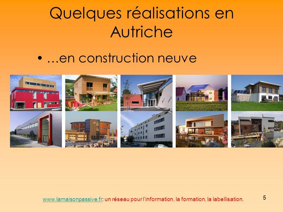 16 Maisons passives en Europe www.lamaisonpassive.frwww.lamaisonpassive.fr: un réseau pour linformation, la formation, la labellisation.