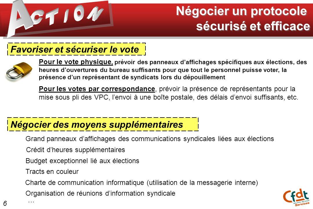 Favoriser et sécuriser le vote Pour le vote physique, prévoir des panneaux daffichages spécifiques aux élections, des heures douvertures du bureau suf