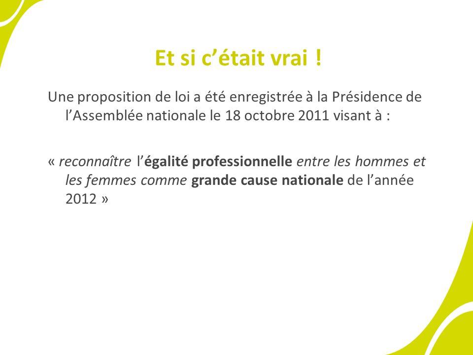 Et si cétait vrai ! Une proposition de loi a été enregistrée à la Présidence de lAssemblée nationale le 18 octobre 2011 visant à : « reconnaître légal