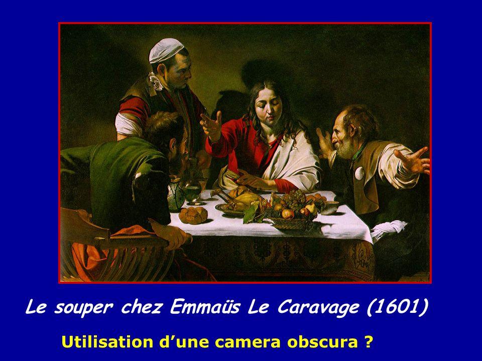 Le souper chez Emmaüs Le Caravage (1601) Utilisation dune camera obscura