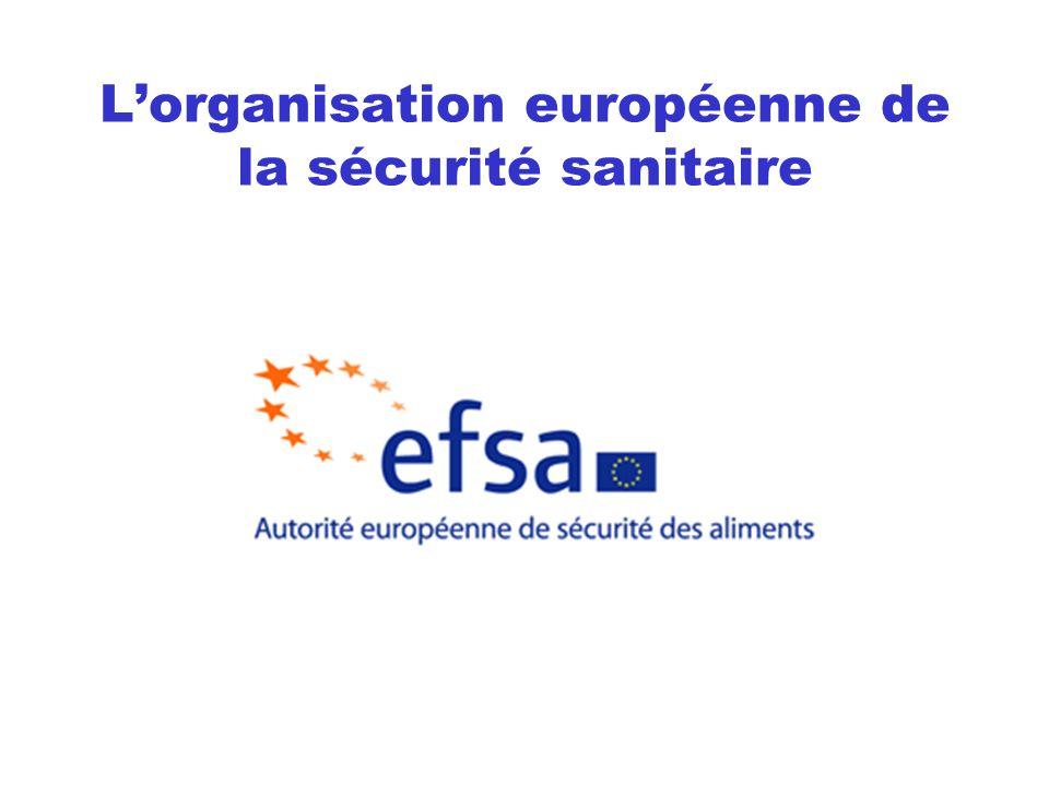 Lorganisation européenne de la sécurité sanitaire