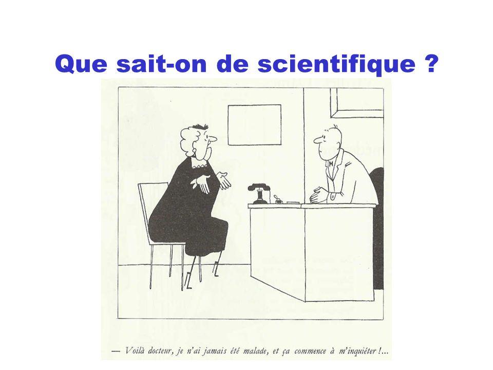 Les experts sont des hommes « Lexpert ne doit jamais quitter son rôle dexpert scientifique.