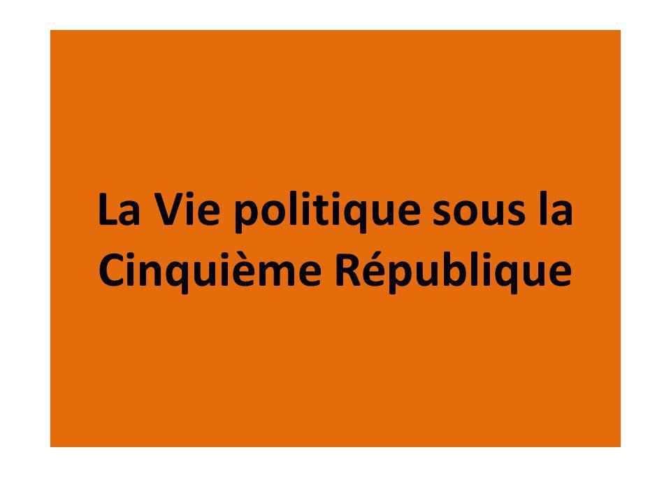 La Vie politique sous la Cinquième République