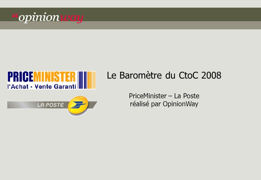 Le Baromètre du CtoC 2008 PriceMinister – La Poste réalisé par OpinionWay