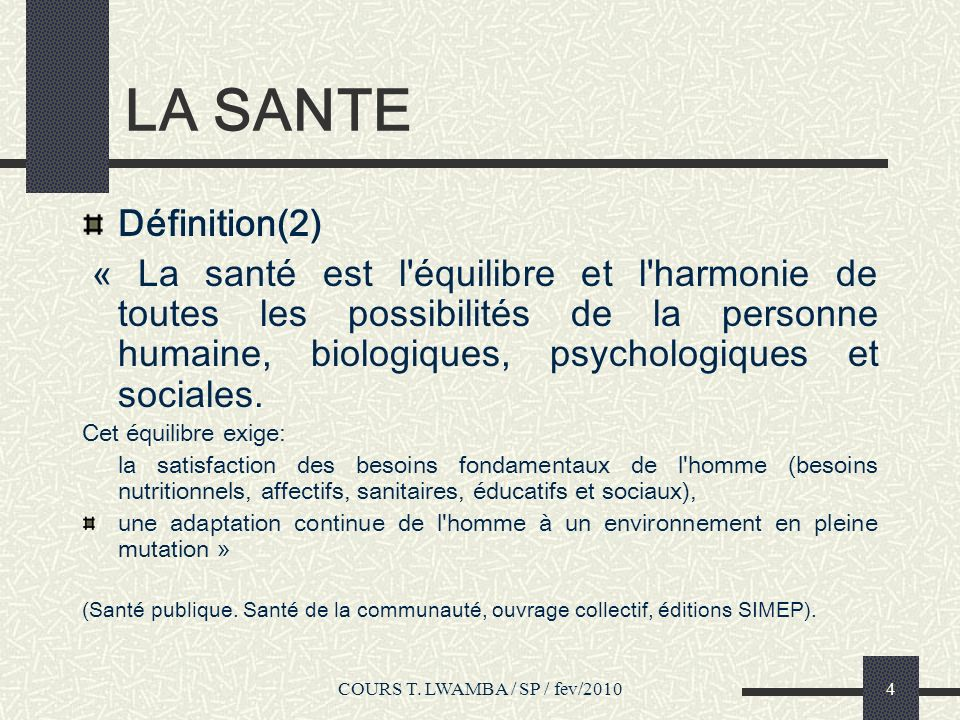 COURS T.