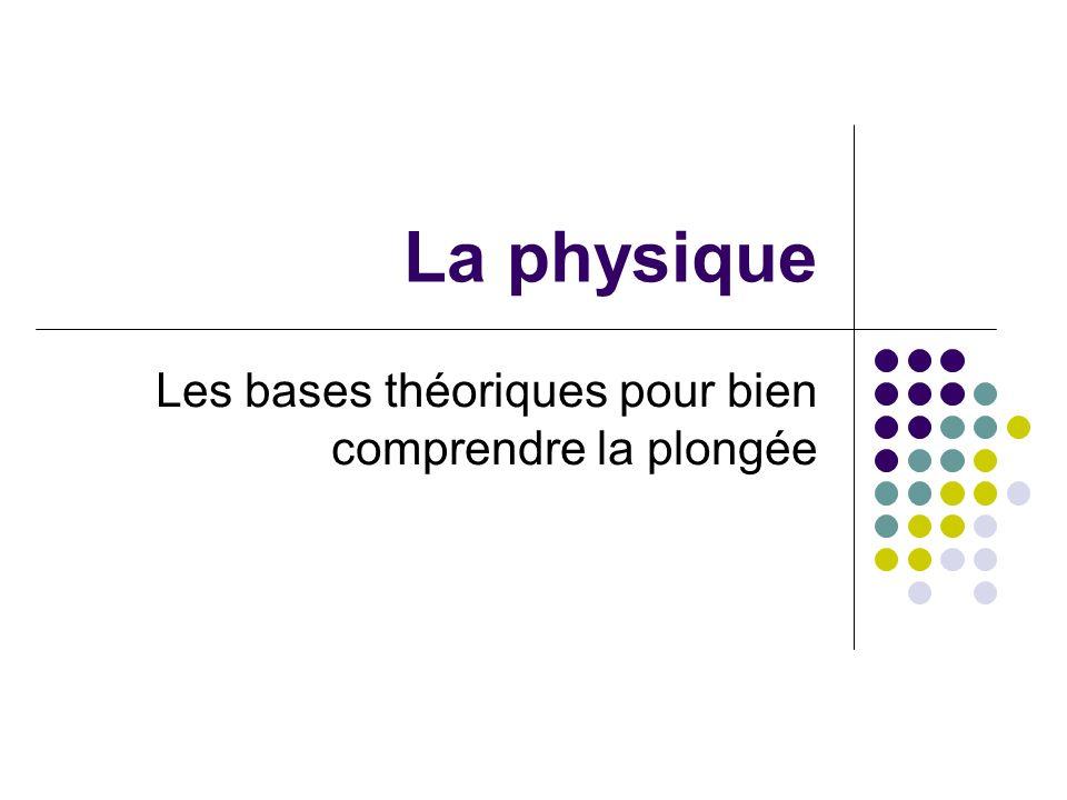 La physique Les bases théoriques pour bien comprendre la plongée
