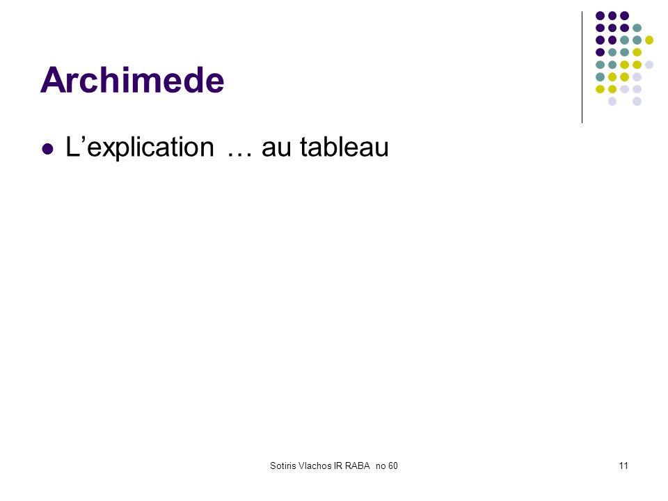 Sotiris Vlachos IR RABA no 6011 Archimede Lexplication … au tableau