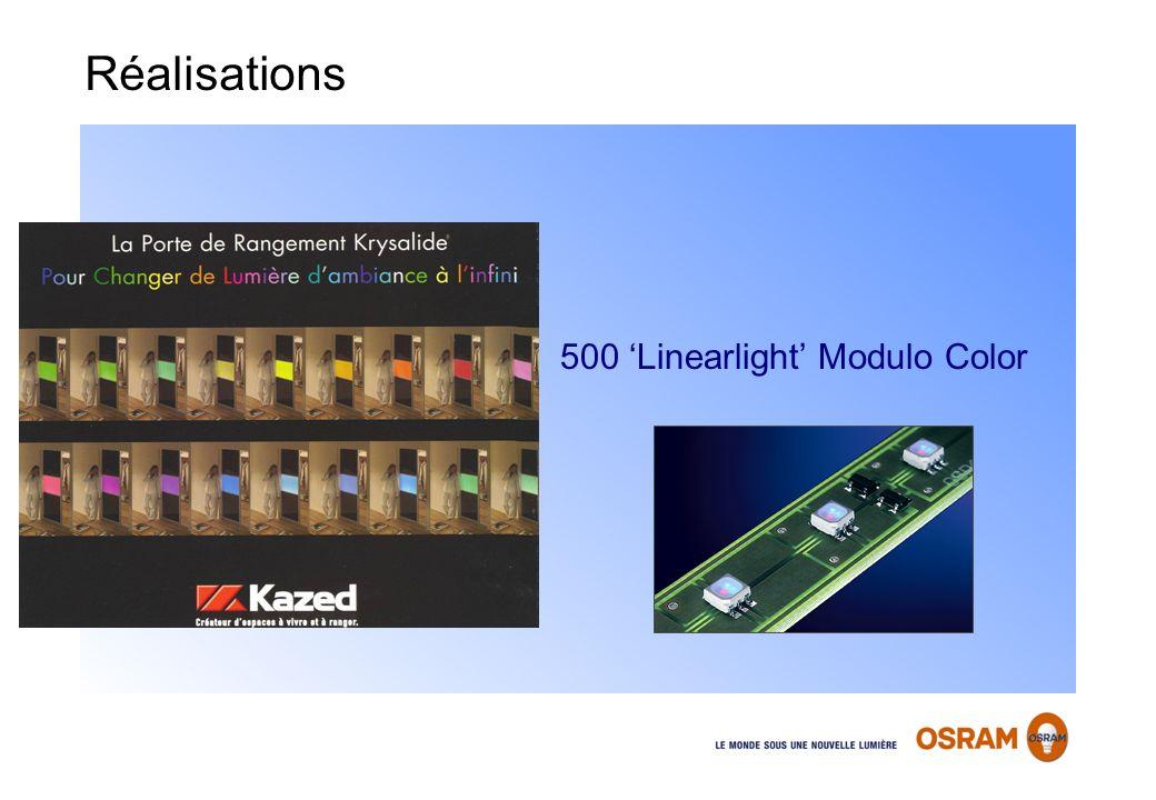 500 Linearlight Modulo Color Réalisations