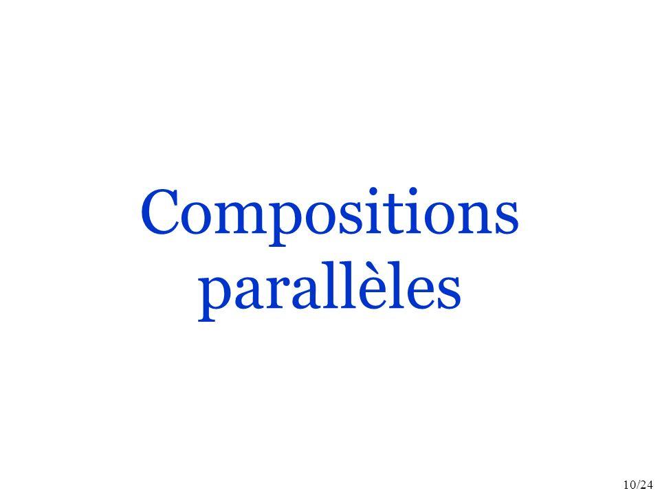 10/24 Compositions parallèles