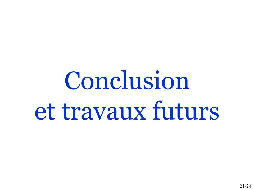21/24 Conclusion et travaux futurs
