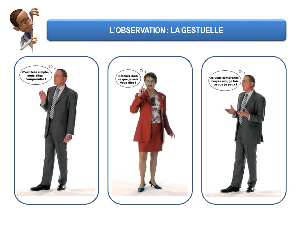 LOBSERVATION : LA GESTUELLE