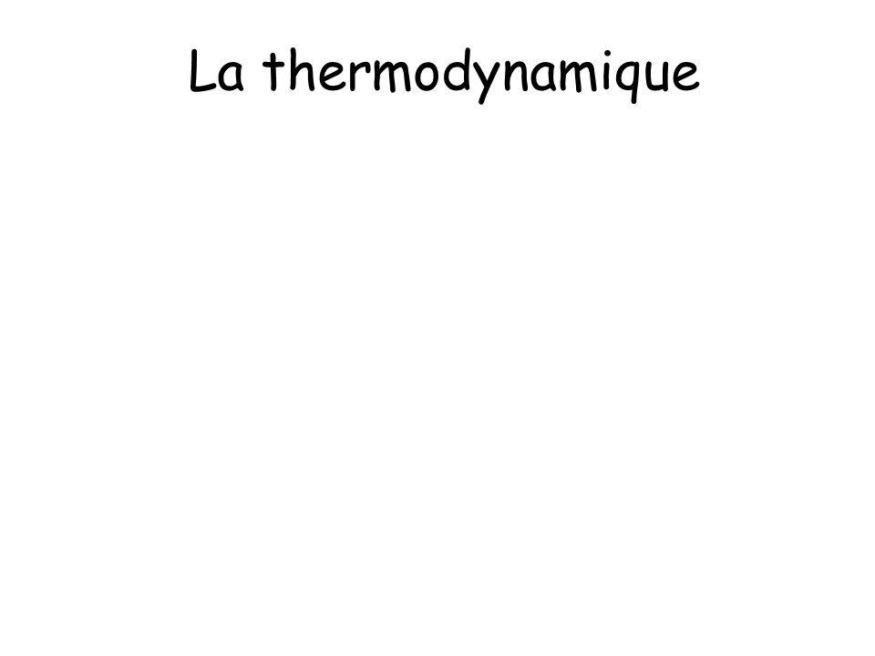 La thermodynamique