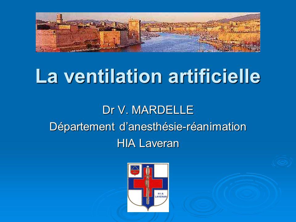 La ventilation artificielle Dr V. MARDELLE Département danesthésie-réanimation HIA Laveran
