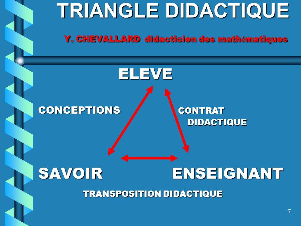 7 TRIANGLE DIDACTIQUE Y.