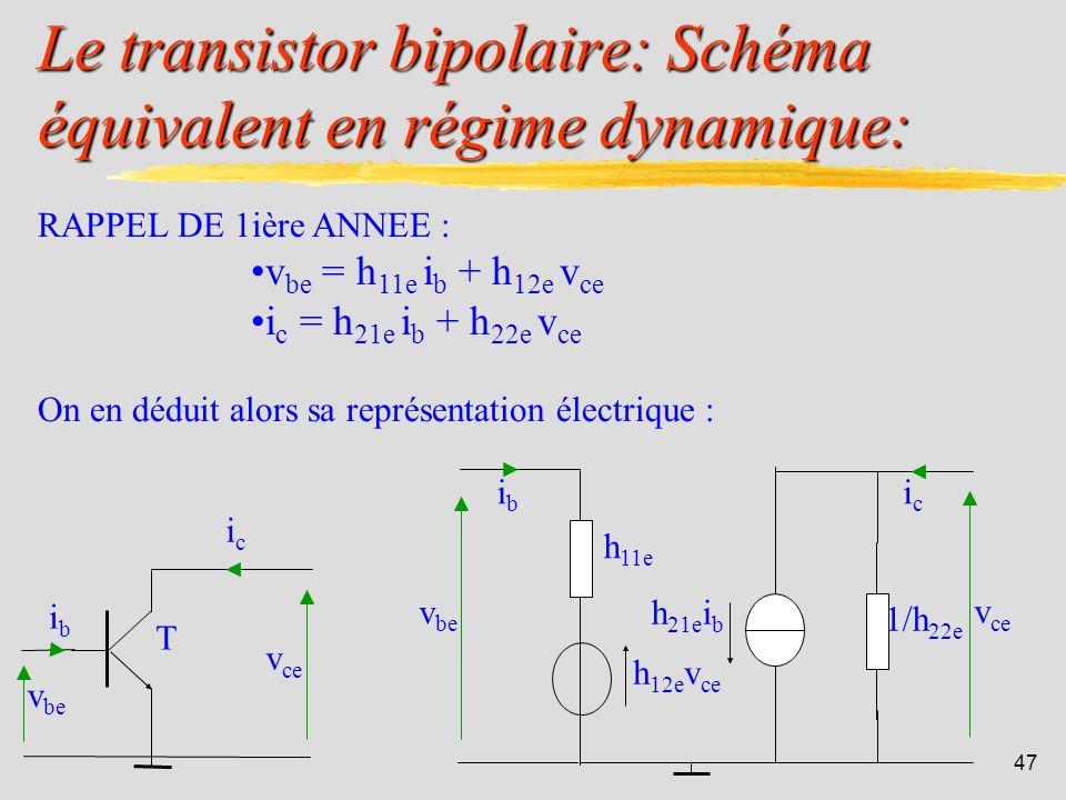 46 4.1. Le transistor bipolaire: IUT de Colmar - Département R&T - 2ième année.