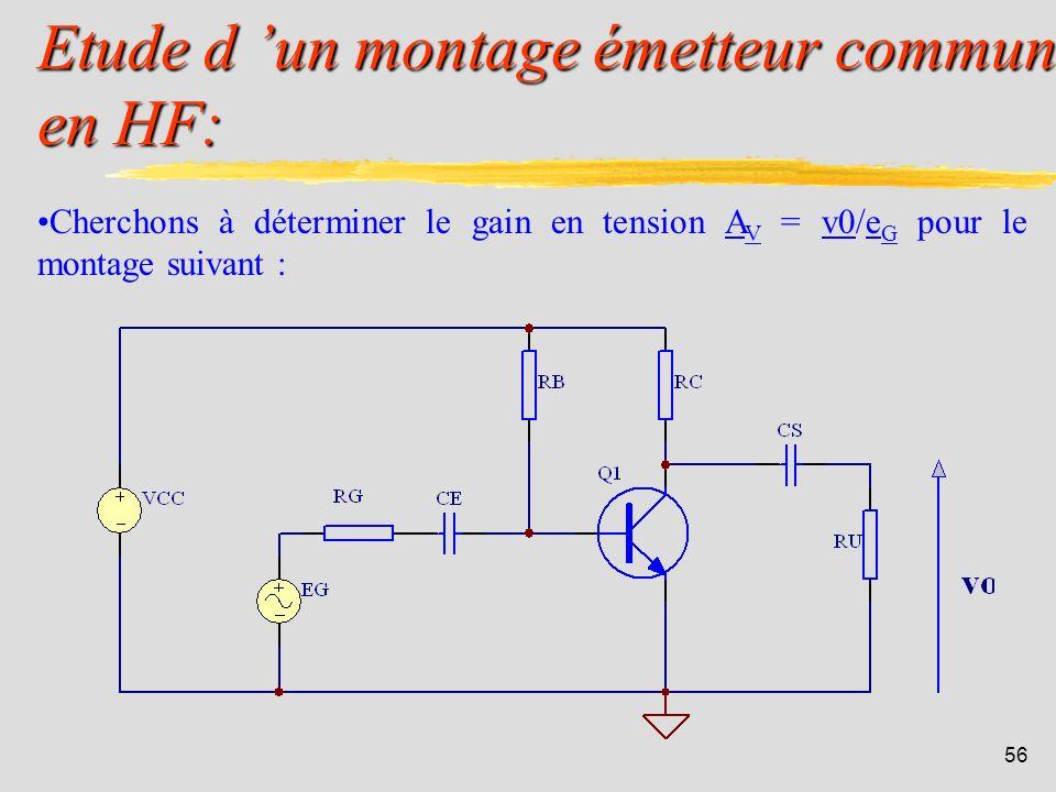 55 Détermination de la fréq. de coupure du gain en courant en court-circuit (4): La fréquence de transition f T du transistor est très facile à mesure