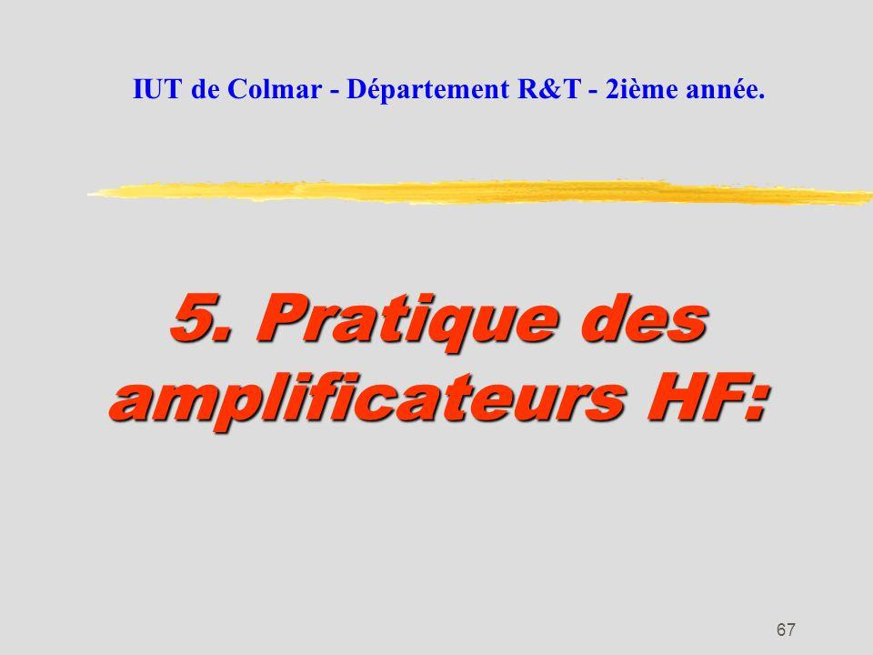 66 Le transistor à effet de champ: Schéma équivalent en HF: Les méthodes de calcul utilisées pour le transistor bipolaire restent valables pour le FET