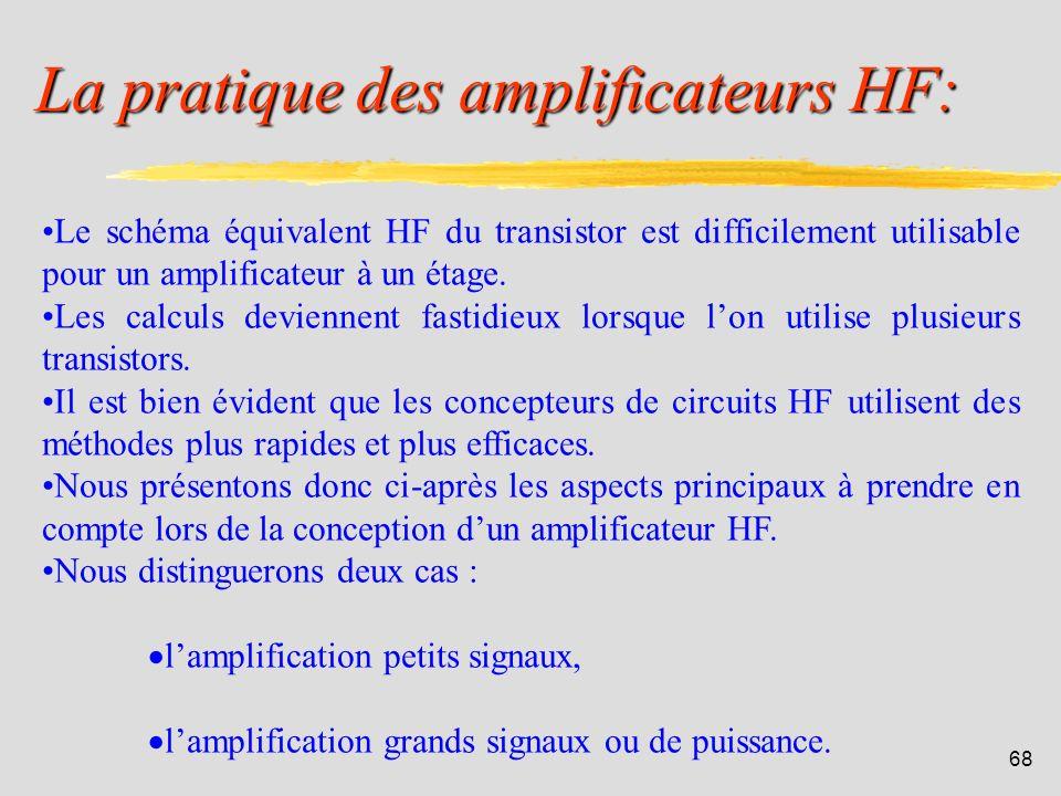 67 5. Pratique des amplificateurs HF: IUT de Colmar - Département R&T - 2ième année.