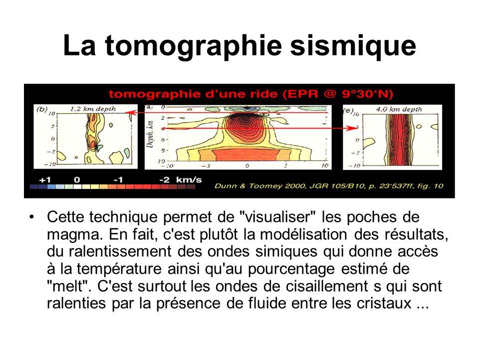 La tomographie sismique Cette technique permet de visualiser les poches de magma.