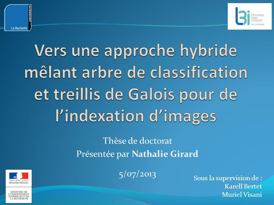 Thèse de doctorat Présentée par Nathalie Girard 5/07/2013 Sous la supervision de : Karell Bertet Muriel Visani