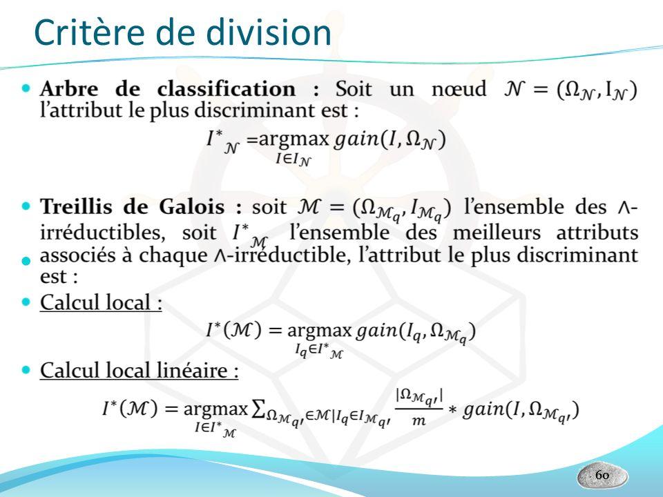 Critère de division 60