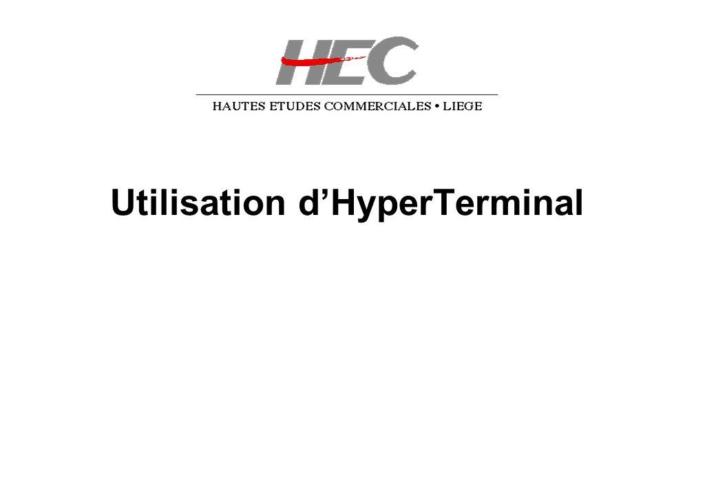 Utilisation dHyperTerminal