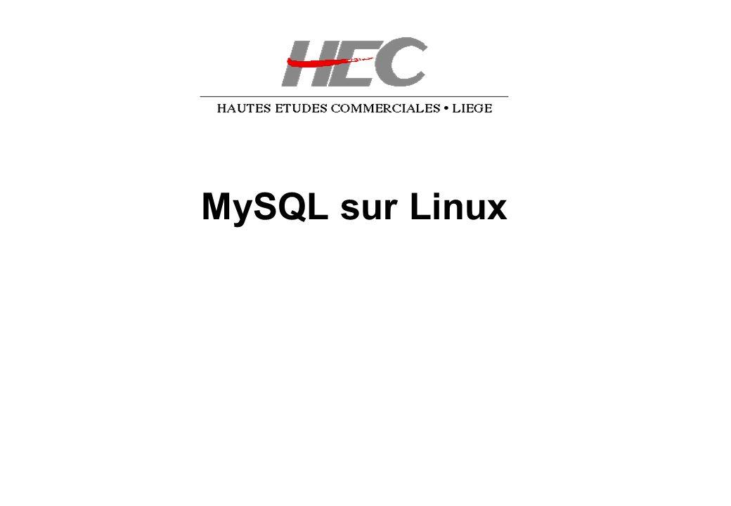E. Vyncke, 2004/02/2725 MySQL Front 1ère Connexion /1