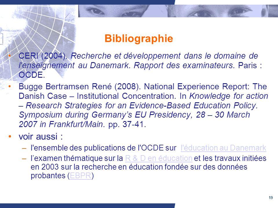 19 Bibliographie CERI (2004).
