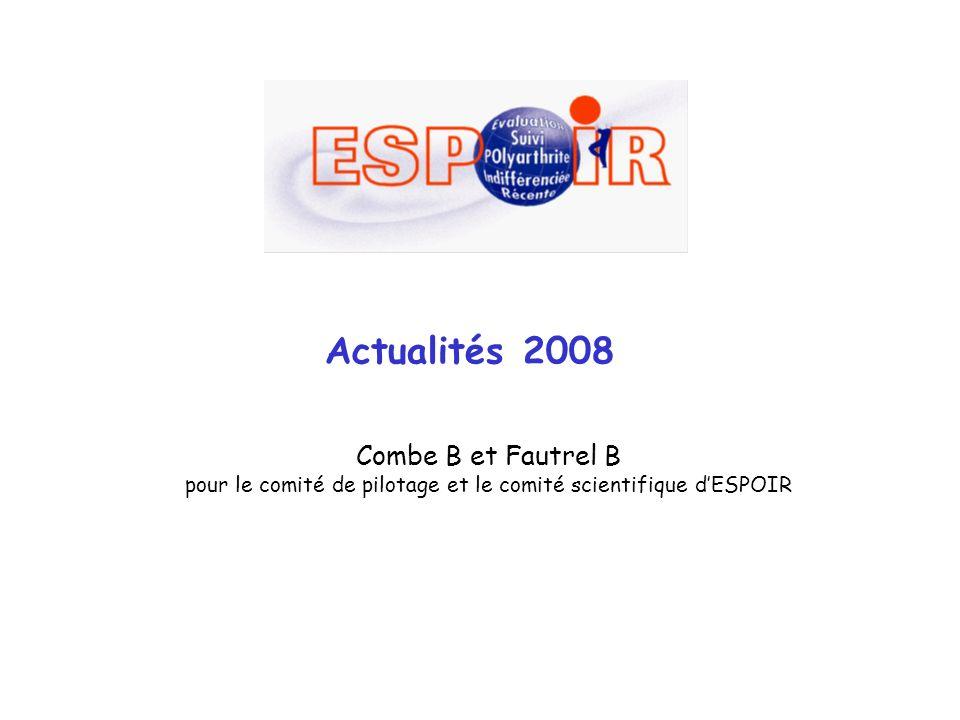 Actualités 2008 Combe B et Fautrel B pour le comité de pilotage et le comité scientifique dESPOIR