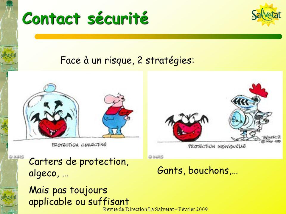 Revue de Direction La Salvetat – Février 2009 Bilan budget sécurité Coût de la sécurité en 2008 : 25 k