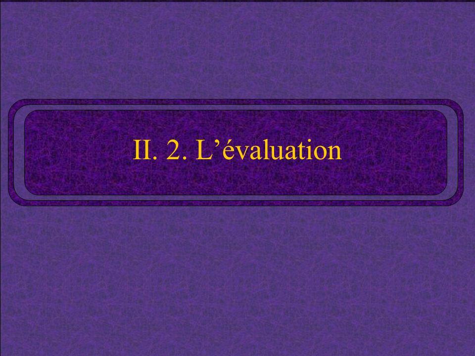 II. 2. Lévaluation