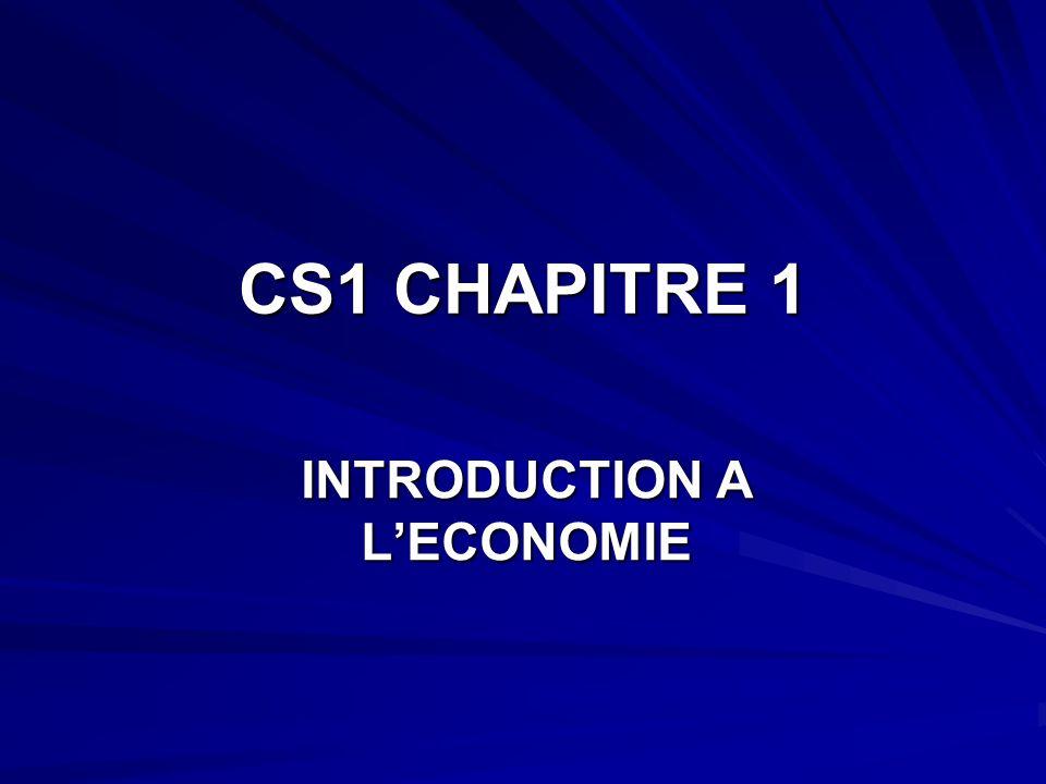 CS1 CHAPITRE 1 INTRODUCTION A LECONOMIE