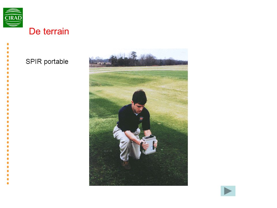 SPIR portable De terrain