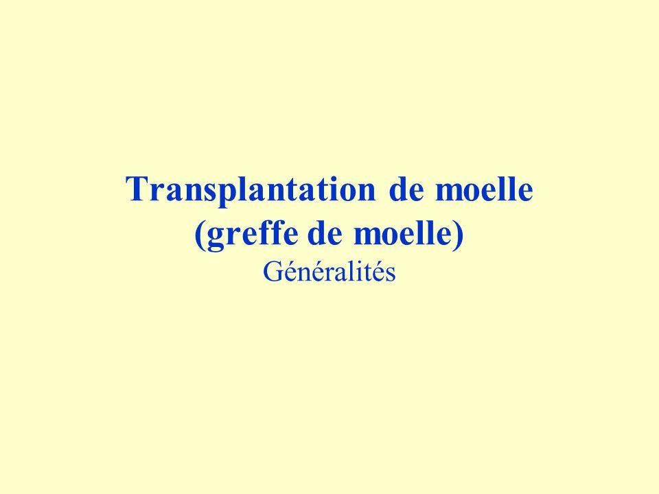 Transplantation de moelle (greffe de moelle) Généralités